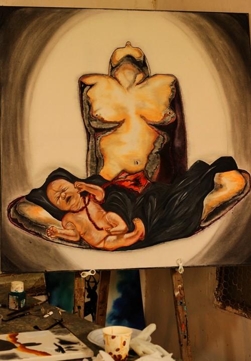 ציור ורישום רחובות-ציור של דנה